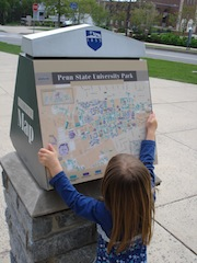 Reading a campus map