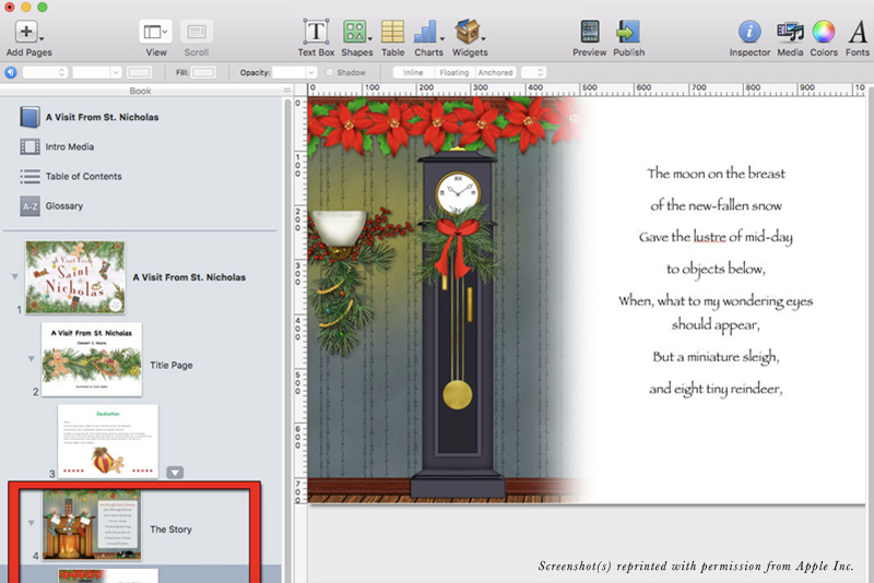 iBooks Author Build the Story Section