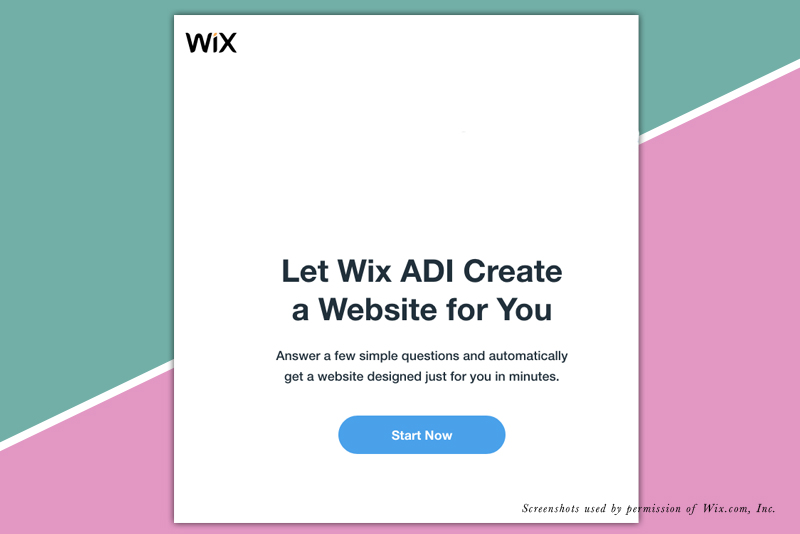 Start a Wix Website with the Wix ADI