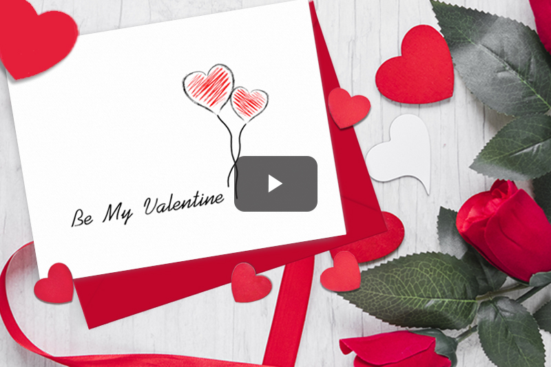 Valentine Card Project in Rebelle 2