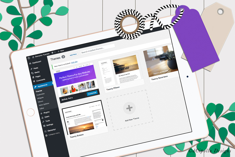 Elementor and Astra Theme for Wordpress