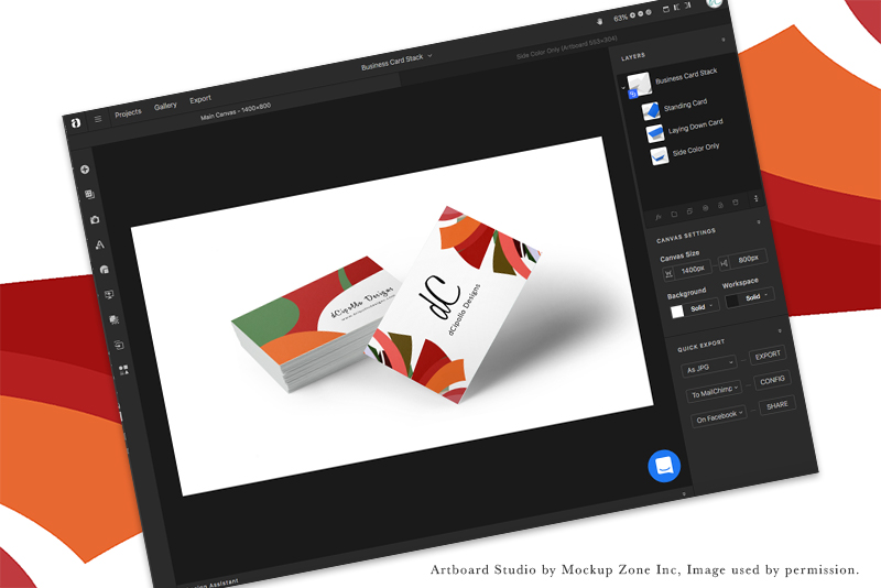 Artboard Studio Business Card Mockup