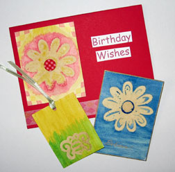 photo of cards using emboss resist technique