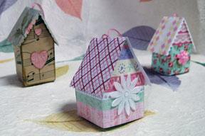 Bird house ornaments photo