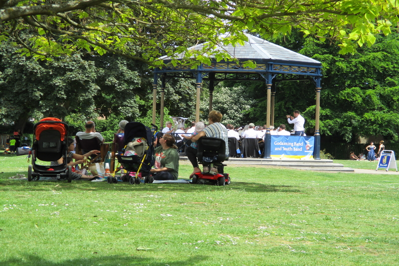 Bands oompah in the park, London