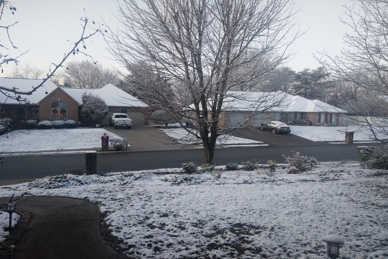 A white Christmas in Maryland, Tennessee, USA