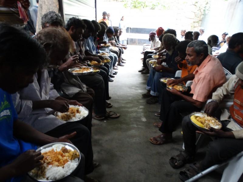 Soup Kitchen Saturday, in Bangalore, India