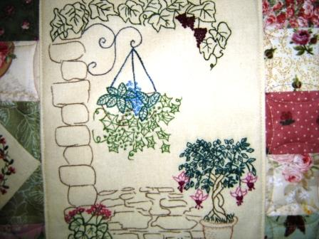 Through The Garden Gate Wall Hanging Quilting
